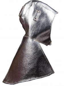 211CA001-caperuza- aluminizada-forro franela-cierre-en-el-hombro-velcro-